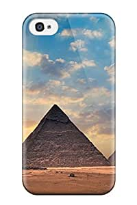 Discount Ideal Case Cover For Iphone 4/4s(egyptian Pyramids Landscapes Sky Desert Ian Nature Other), Protective Stylish Case 2737097K73757070