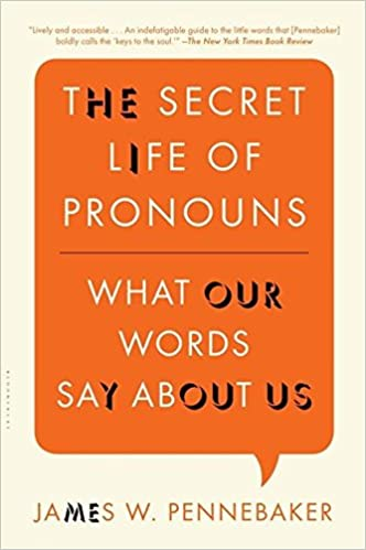 The Secret Life of Pronouns: What Our Words Say About Us: James W