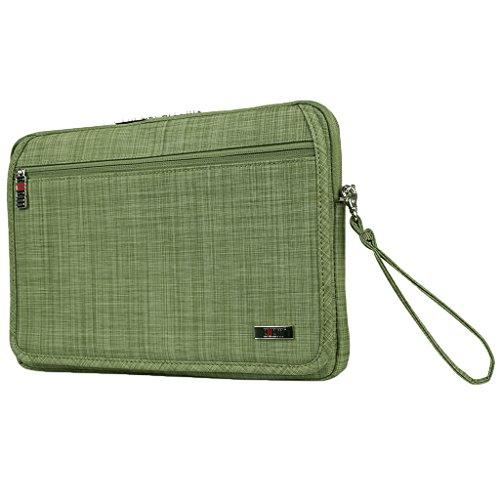 MagiDeal Shockproof Notebook Laptop Sleeve Case Hand Bag for 14'' Laptop &Accessories Grass Green (14' Notebook Handbag)