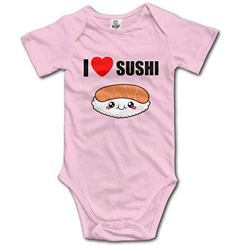 MAON I Love Sushi Baby's Onesie Unisex Short Sleeve Comfortable Bodysuit Outfits -