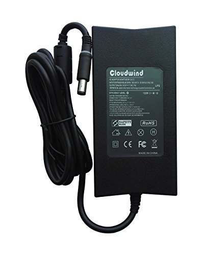 Family Ac Adapter (Cloudwind 19.5V 7.7A 150W Replacement Slim AC Adapter for Dell Alienware M14x M15x Inspiron XPS Series,Dell Family: PA-5M10. ADP-150RB,Laptop AC Adapter Charger Power Cord Included.)