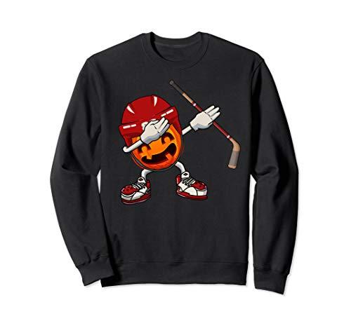 Halloween Pumpkin Hockey Player (Dabbing Hockey Pumpkin Player With Helmet Halloween Costume)