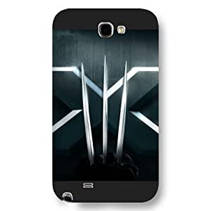 UniqueBox Customized Marvel Series Case for Samsung Galaxy Note 2, Marvel Comic Hero X-Men Wolverine Logan Samsung Galaxy Note 2 Case, Only Fit for Samsung Galaxy Note 2 (Black Frosted Case) hjbrhga1544