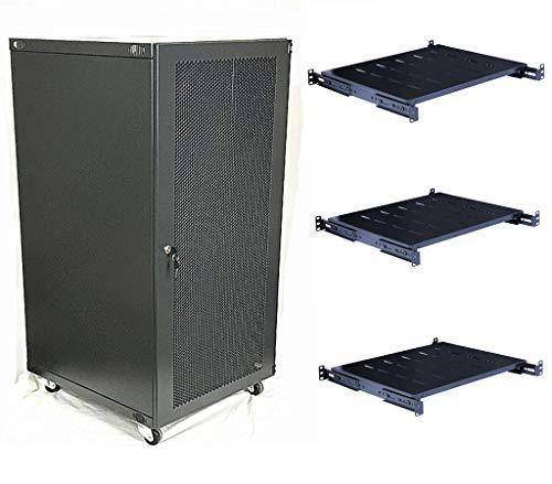 (Raising Electronics 22U Wall Mount Network Server Cabinet Rack Enclosure Ventilated Door Lock 22.75