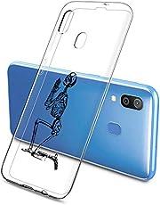Oihxse Funda Samsung Galaxy A50s, Ultra Delgado Transparente TPU Silicona Case Suave Claro Elegante Creativa Patrón Bumper Carcasa Anti-Arañazos Anti-Choque Protección Caso Cover (A9)