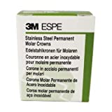 3M 6LL2 ESPE Permanent Posterior Crown, Lower Left, First Molar, Stainless Steel, 10.8 Size