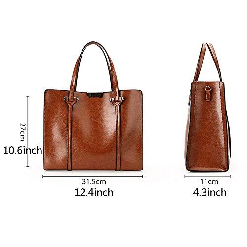Bag Women's Bag Handbag Top Crossbody Lady Pu Wax Outdoor Satchel Oil Tote Handle Shoulder Pink Leather Fashion qrnq4vRx