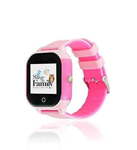 Reloj con GPS para niños Save Family Modelo Junior Acuático. (Rosa)