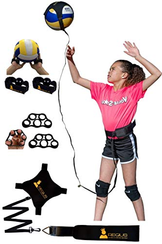 (Regius Volleyball Training Equipment 3.0 - Premium Solo Trainer, Perfect for Beginners Practicing Serving, Setting and Spiking, Great Gift Idea)