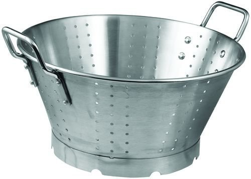 Winco SLO-16 Stainless Steel Premium Colander with Base, 16-Quart