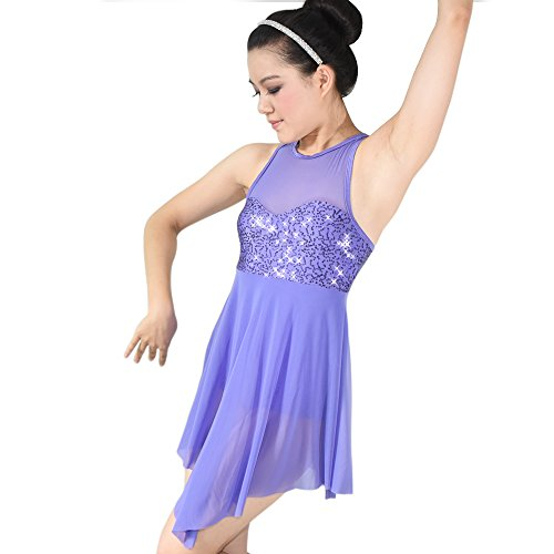 Dance Costumes Jackets (MiDee Stage Dance Costume Dress for Children and Adults 5 colors 10 sizes available (SA, Purple))