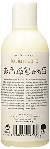 Prermium-leather-conditioning-lotion-for-furniture-saddles-bags-jackets-and-shoes-Lettro-Lotion-Care-200ml