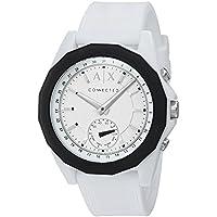 Armani Exchange Men's Hybrid Smartwatch, White Silicone, 44 mm, AXT1000
