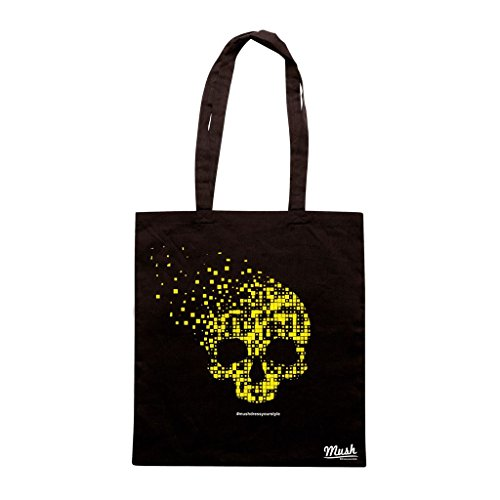 Borsa SKULL PIXEL DESTROY - Nera - MUSH by Mush Dress Your Style