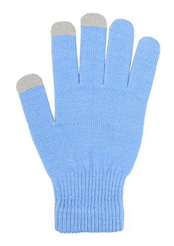 light blue gloves - 1