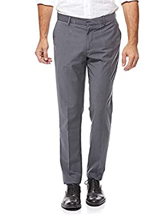 ICONIC Straight Trousers for Men - Grey