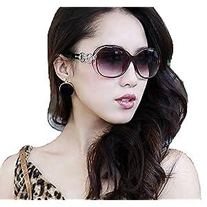 PALAY® Women's Eyewear Sunglasses Round Circle Cat Eye (Brown)