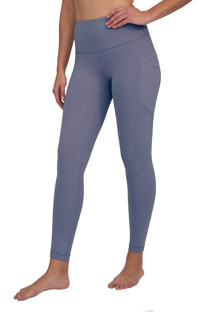 90 Degree By Reflex Women's Power Flex Yoga Pants - Twilight Violet - Small by 90 Degree By Reflex