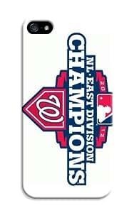 LarryToliver Creative Coolest Customizable Logo Customizable Baseball Washington Nationals iphone 5/5s Case Cover Dual Cases