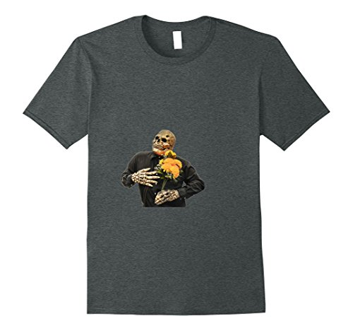 Mens Dead Flower Delivery Guy T-Shirt XL Dark Heather