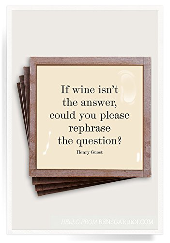 If Wine Isn't The Answer & Glass Coasters, Set of ()