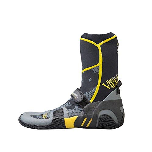 Gul Viper 5mm Split Toe Boot Black/YELLOW BO1259