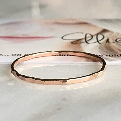 Rose Gold Filled, Dainty Little Plain Band, Size 8 ()