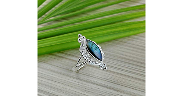 Gift for Her Ring Silver Jewelry Handmade Jewelry Labradorite Ring 925k Sterling Silver Ring All Size Available By Artmyrna