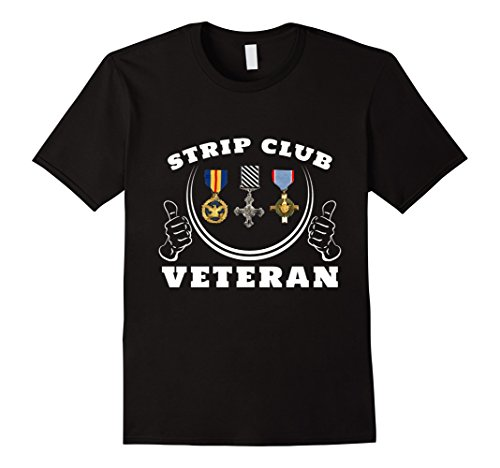 Men's Strip Club Veteran Gift T-Shirt XL Black