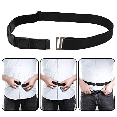 Milylove Mens Shirt Stay Black Tuck It Belt Non-slip Wrinkle Bandage Super Belt for Formal and Professional Attire (Hidden Tailor Belt)