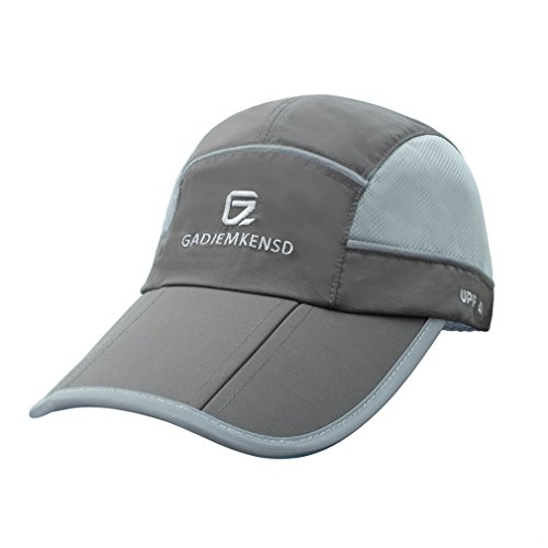 GADIEMKENSD Sun Hat Men Running Breathable Sports Hat Quick Drying Reflective Foldable Running Cap Baseball Cap Outdoor 40+ UPF Inhibit UV Mesh Race Performance Water Repellency for Woman - Sun Hat Running Protection