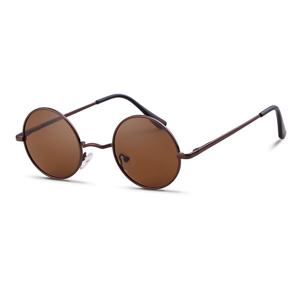 Round Retro Sunglasses Men Women Steampunk Style Circle Sun Glasses 50) SORVINO TY8832U