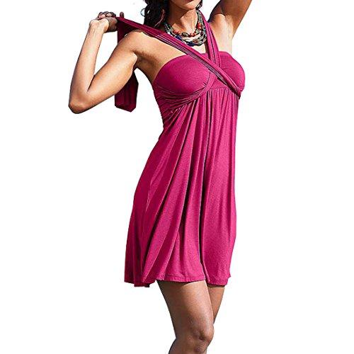 del festa Swimwear Moda Sexy Group pannello del da dello Gonne da costume Rose Vestito per SiDiOU cassa vestito spostata spiaggia le Rosse esterno donne wIqOR5O8S