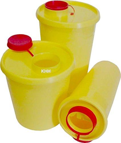 Kanülenabwurfbehälter Kanülenbox Abwurfbehälter Quickbox ver. Größen Kanülen(Größe : 1,5 Liter,Menge: 10x)