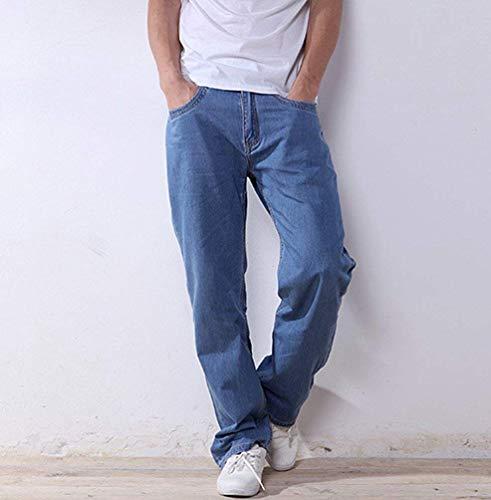 Style Light Jeans Holgados Sueltos Blue Fuweiencore Moda Vaqueros Hombres Rectos color Casuales Style Los Tamaño Thin 36 De a0O0Apq