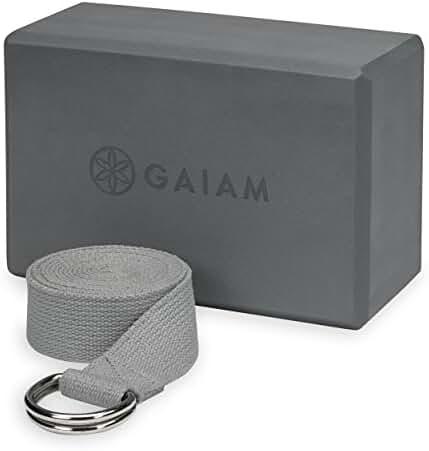 Gaiam Yoga Strap/Block Combo