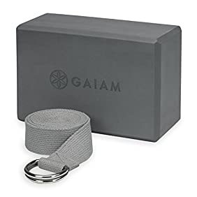 Gaiam Yoga Strap/Block Combo