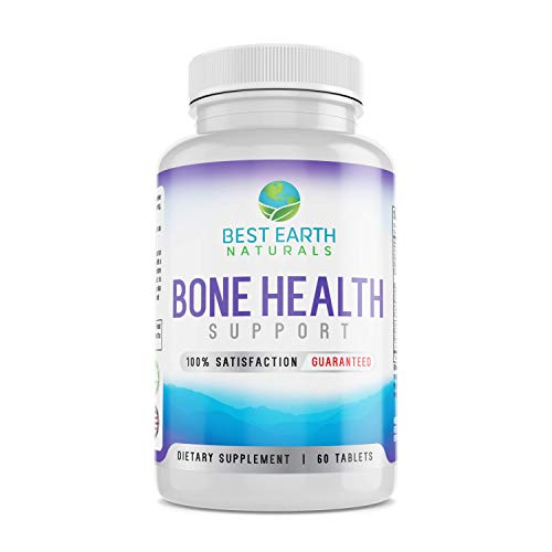 Bone Health Support by Best Earth Naturals for Men & Women to Maintain Strong, Healthy Bones - 60 Tablets