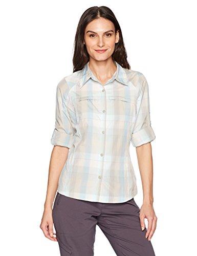 Columbia Silver Ridge Plaid Long Sleeve Shirt, Chalk Ombre Plaid, Small
