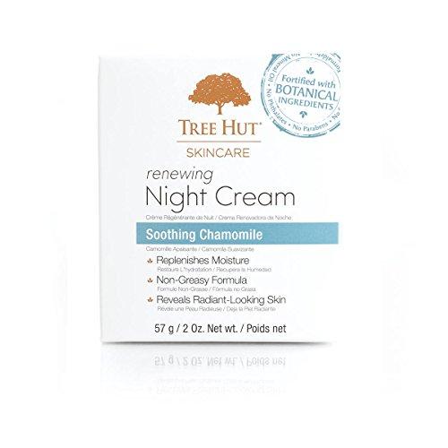 Tree Hut Skincare Renewing Night Cream, Soothing Chamomile, 2 Fluid Ounce