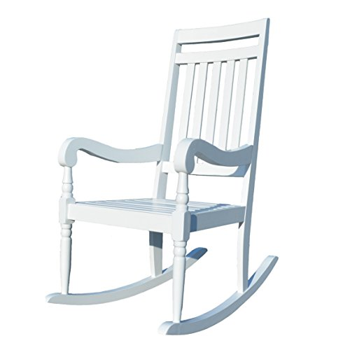 Carolina Chair & Table Belmont Slat Rocker, White