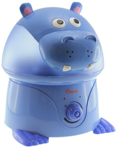 Crane USA Filter-Free Cool Mist Humidifiers Kids, Hippo by Crane USA