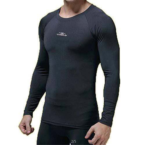 Jaiconfiance Camisa de compresión para Hombre Invierno de Secado rápido Ropa Deportiva para Hombre Manga Larga Pro Elastic...