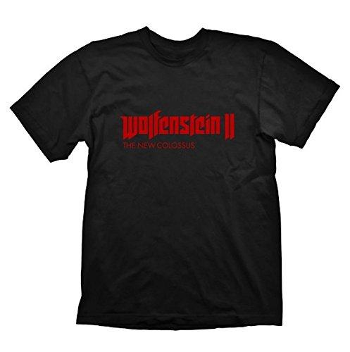 Wolfenstein 2 - Logo - Shirt   Schwarz   100% Baumwolle, Größe:M