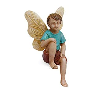 Woodland Knoll Mg237 Sitting Fairy Boy