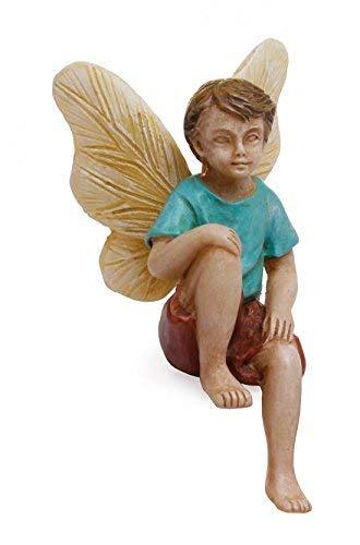 Woodland Knoll Mg237 Sitting Fairy Boy