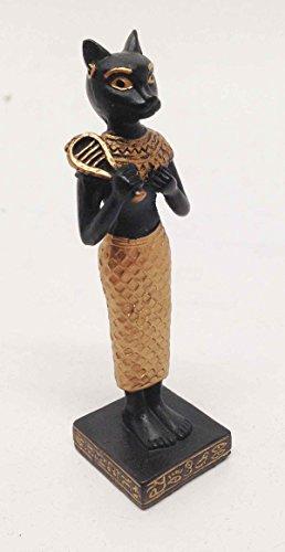 EGYPTIAN FELINE CAT GODDESS BASTET STATUE SMALL DOLL HOUSE MINIATURE 3