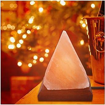 Pirámide de purificador de aire natural Lámpara de sal Ion Rock ...