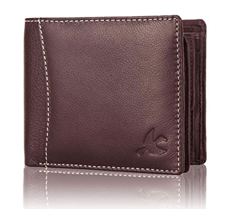 Hornbull Themes Brown Mens Leather Wallet   Stylish Leather Wallet for Mens   RFID Blocking Genuine Leather Mens Wallet