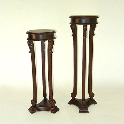 Wayborn Louis Pedestal Table 136841, Brown by Wayborn